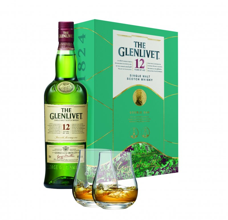 Glenlivet 12YO 0,7L + 2 szklanki